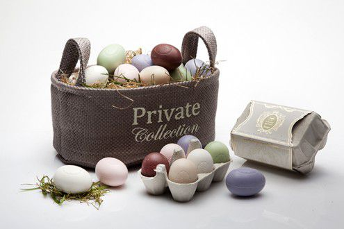 Egg Shaped Soaps in Oval_Paper Basket