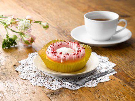 冷やして食べるドーナツ ホイップクリーム&いちご