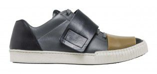 LEATHER SNEAKERS_GRAY BLACK BROWN