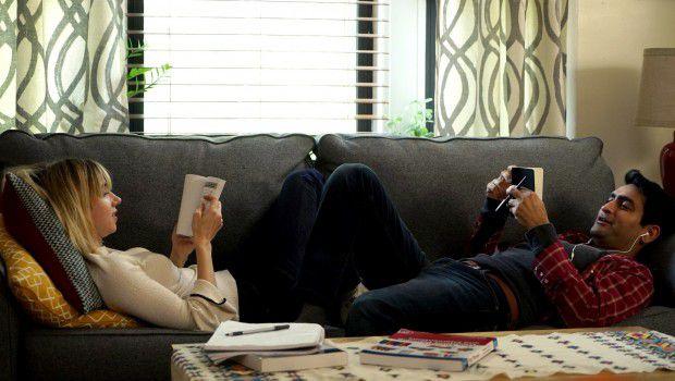 """Zoe Kazan as """"Emily"""" and Kumail Nanjiani as """"Kumail"""" in THE BIG SICK"""