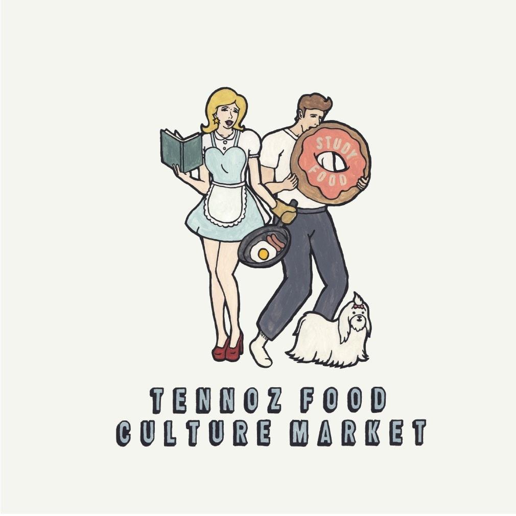 TENNOZ FOOD CULTURE MARKET繝ェ繝ェ繝シ繧ケ邏譚・TFCM VOL.1 ILLUST