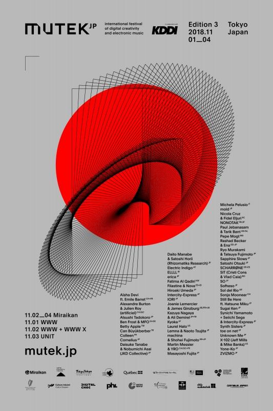 MUTEK.JP2018 poster